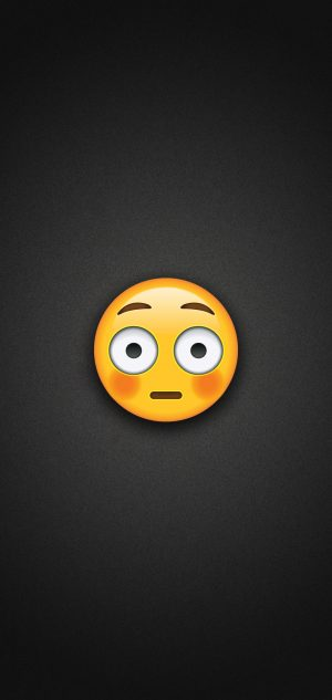 Flushed Face Emoji Phone Wallpaper 300x633 - Emoji Wallpapers
