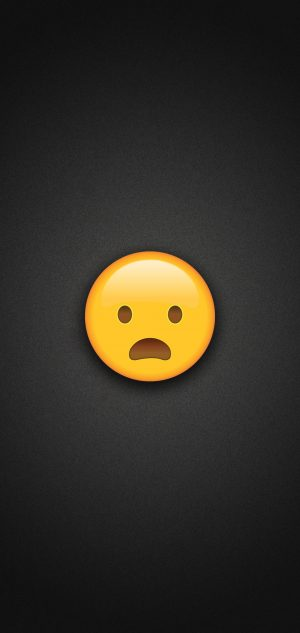 Frowning Face with Open Mouth Emoji Phone Wallpaper 300x633 - Emoji Wallpapers