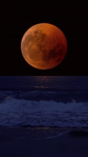 Full Moon Eclipse Sea Wallpaper 1080x1920 300x533 - Nature Wallpapers