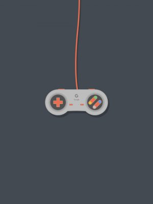 Gamepad Minimal Background HD Wallpaper 300x400 - Minimal Wallpapers