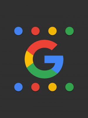 Google Logo Minimal Background HD Wallpaper 300x400 - Minimal Wallpapers