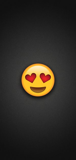 Heart Eyes Emoji Phone Wallpaper 300x633 - Emoji Wallpapers