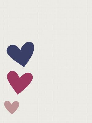 Hearts Minimal Background HD Wallpaper 300x400 - Minimal Wallpapers