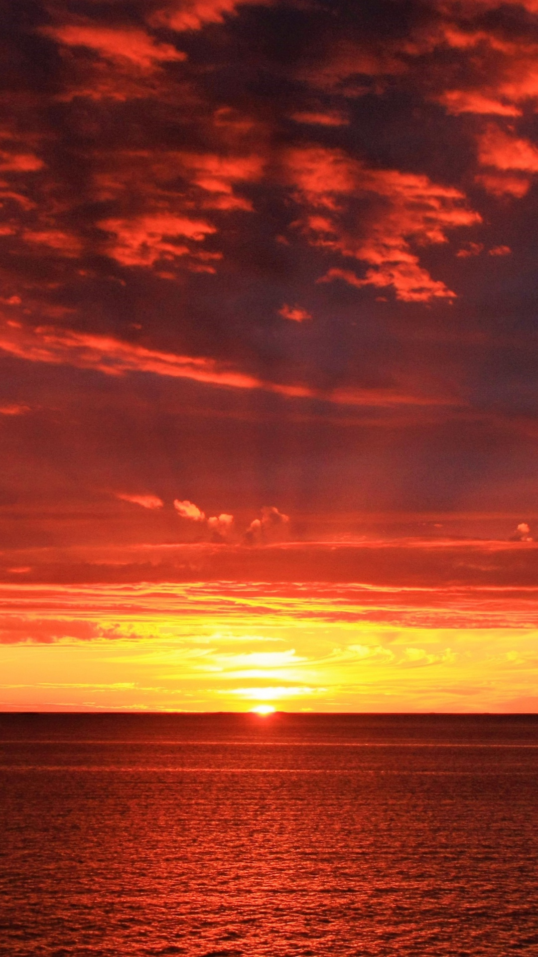 Horizon Sunrise Sea Sun Wallpaper 1080x1920