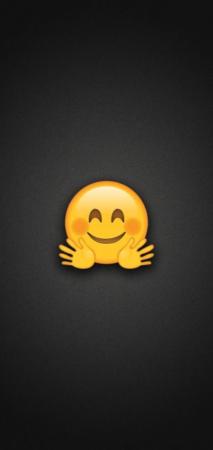 Hugging Face Emoji Phone Wallpaper 300x633 - Emoji Wallpapers