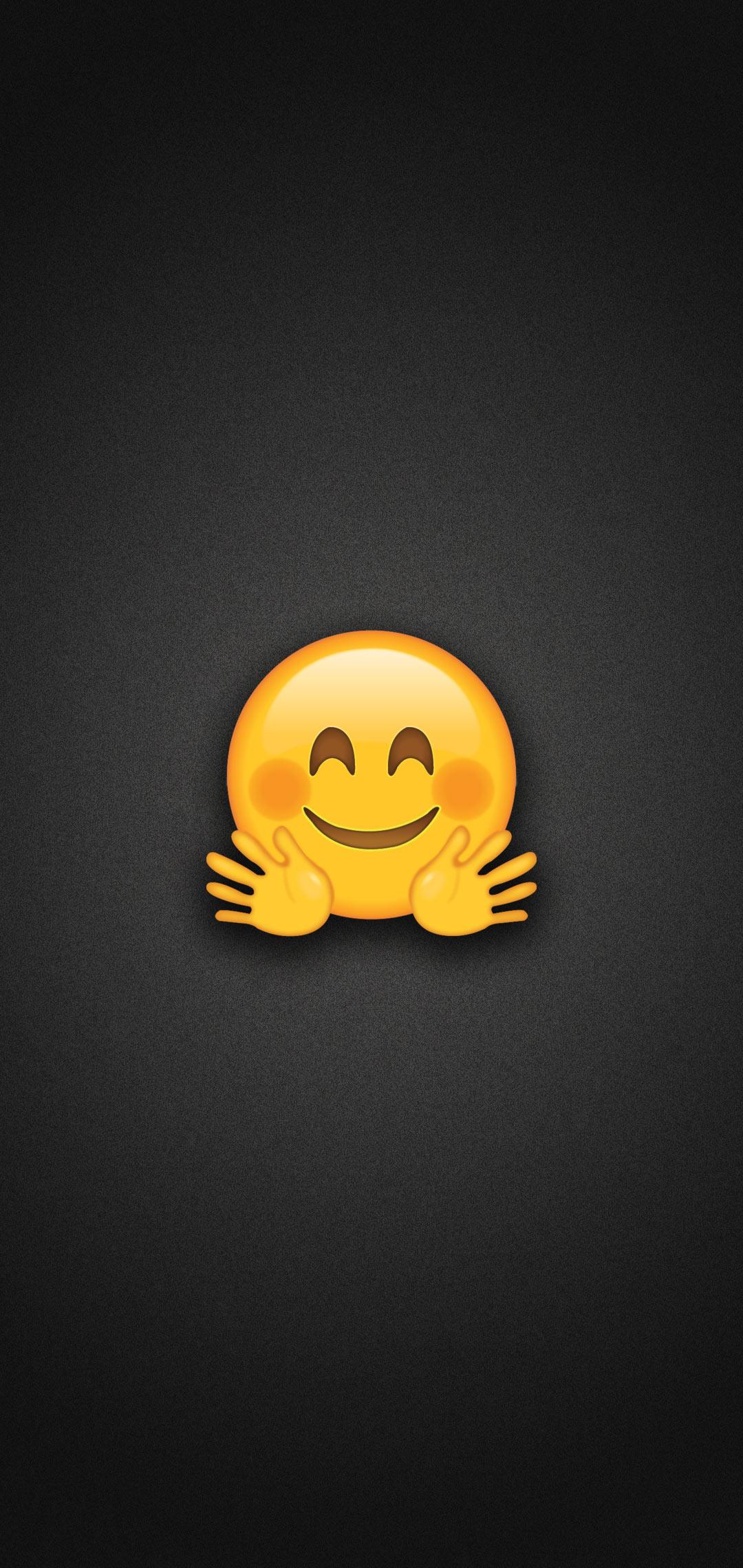 Hugging Face Emoji Phone Wallpaper
