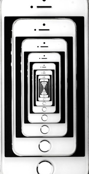 Illusion iPhone Wallpaper 1080x2340  300x585 - White Wallpapers