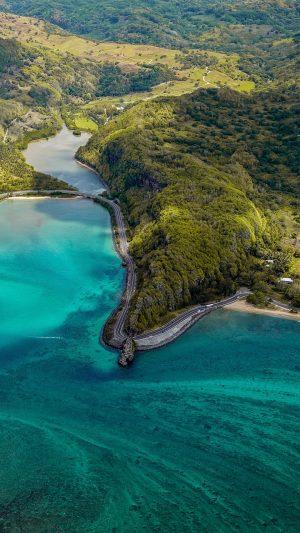Island Aerial View Ocean Wallpaper 1080x1920 300x533 - Nature Wallpapers