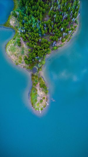 Island Ocean Aerial View Wallpaper 1080x1920 300x533 - Nature Wallpapers