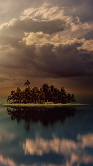 Island Palm Trees Ocean Wallpaper 1080x1920 300x533 - Nature Wallpapers