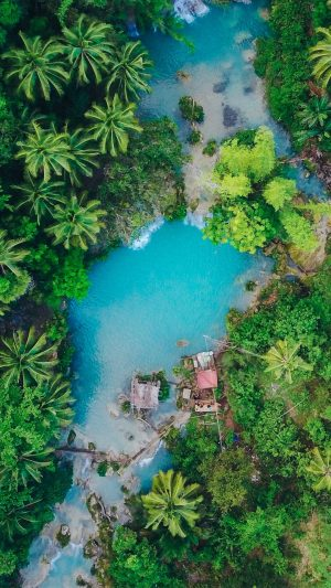 Island Palm Trees Top View Wallpaper 1080x1920 300x533 - Nature Wallpapers