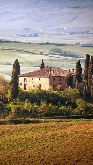 Italy Tuscany Summer Countryside Landscape Wallpaper 1080x1920 300x533 - Nature Wallpapers