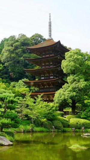 Japan Yamaguchi Pond Trees Wallpaper 1080x1920 300x533 - Nature Wallpapers