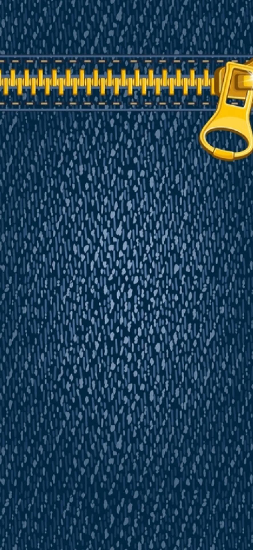 Jeans Zip Lock Screen Wallpaper
