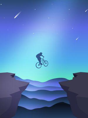 Jump Minimal Background HD Wallpaper 300x400 - iPhone Minimalist Wallpapers