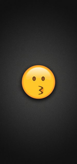 Kissing Face Emoji Phone Wallpaper 300x633 - Emoji Wallpapers