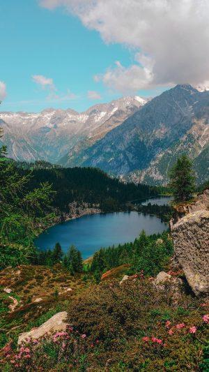 Lake Mountains Valle Rendena Wallpaper 1080x1920 300x533 - Nature Wallpapers