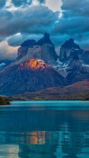 Landscape Argentina Mountain Lake Patagonia Clouds Wallpaper 1080x1920 300x533 - Nature Wallpapers