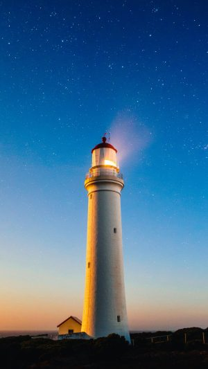 Lighthouse Starry Sky Cape Nelson Lighthouse Wallpaper 1080x1920 300x533 - Nature iPhone Wallpapers