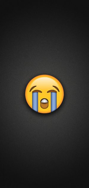Loudly Crying Face Emoji Phone Wallpaper 300x633 - Emoji Wallpapers