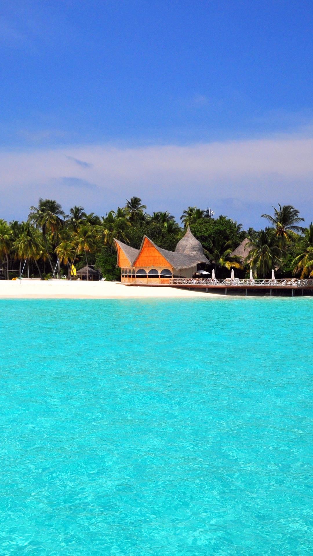 Maldives Tropical Beach Island Wallpaper - 1080x1920
