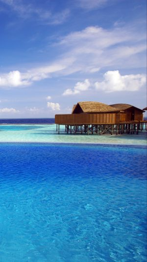 Maldives Tropical Bungalows Ocean Wallpaper 1080x1920 300x533 - Nature Wallpapers