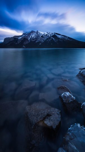 Minnewanka Lake Canada Mountains Wallpaper 1080x1920 300x533 - Nature Wallpapers