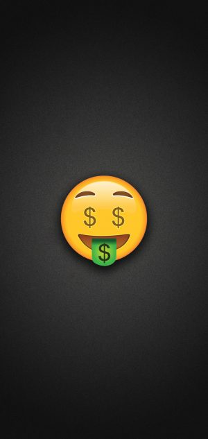 Money Face Emoji Phone Wallpaper 300x633 - Emoji Wallpapers