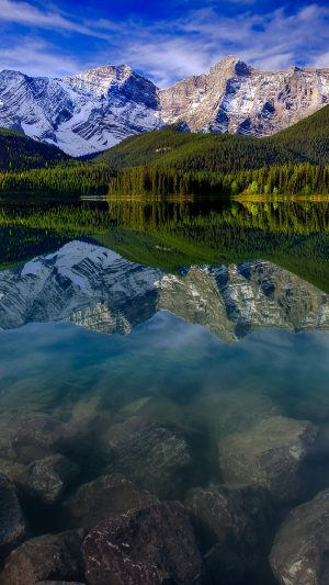 Mountain Landscape Reflection Mountains Wallpaper 1080x1920 300x533 - Nature Wallpapers