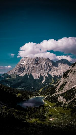 Mountains Lake Clouds Wallpaper 1080x1920 300x533 - Nature iPhone Wallpapers