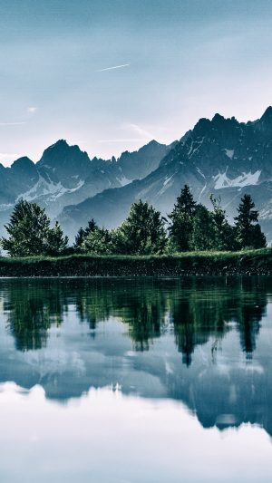 Mountains Lake Photoshop Reflection Wallpaper 1080x1920 300x533 - Nature Wallpapers