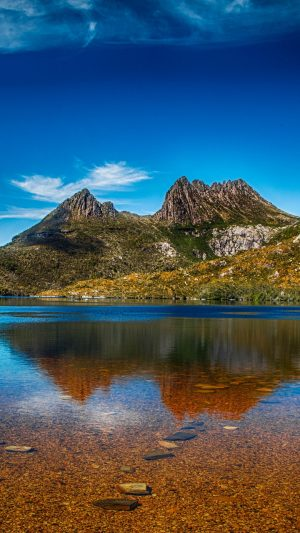 Mountains Lake Sky Water Wallpaper 1080x1920 300x533 - Nature Wallpapers