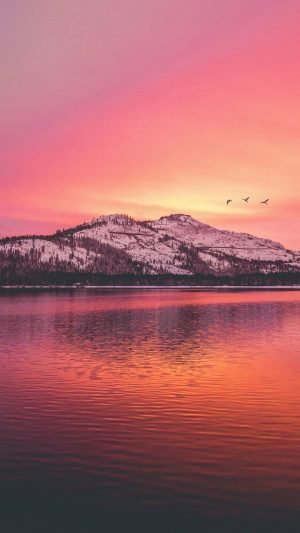 Mountains Lake Sunset Wallpaper 1080x1920 300x533 - Nature Wallpapers