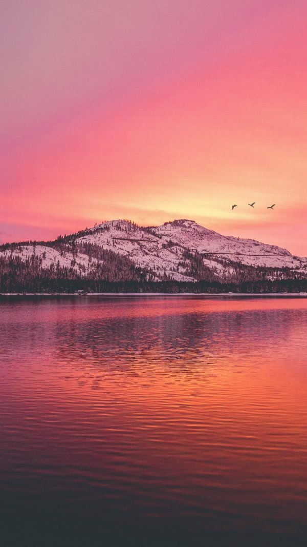 Mountains Lake Sunset Wallpaper 1080x1920 600x1067 - Mountains Lake Sunset Wallpaper - [1080x1920]