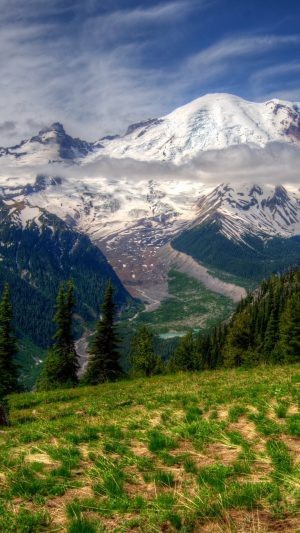 Mountains Landscape Mt Rainier Wallpaper 1080x1920 300x533 - Nature Wallpapers