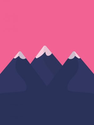 Mountains Minimal Background HD Wallpaper 300x400 - Night Landscape Minimal Background HD Wallpaper