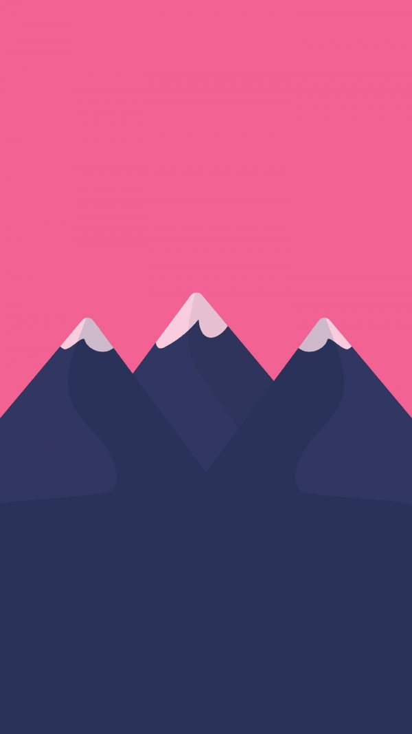 Mountains Minimal Background HD Wallpaper 600x1067 - Mountains Minimal Background HD Wallpaper