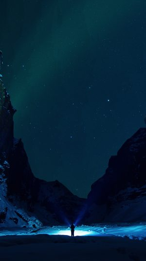 Mountains Starry Sky Snow Ice Floes Night Wallpaper 1080x1920 300x533 - Nature Wallpapers