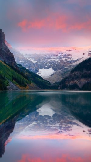 Mountains Sunset Lake Sky Snow Peaks Wallpaper 1080x1920 300x533 - Nature Wallpapers