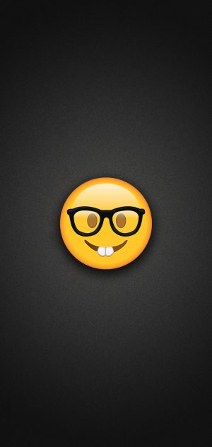Nerd Emoji With Glasses Phone Wallpaper 300x633 - Emoji Wallpapers