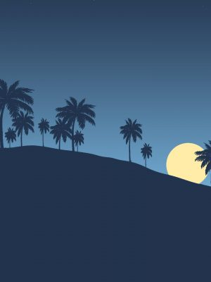 Night Landscape Minimal Background HD Wallpaper 300x400 - Mountains Minimal Background HD Wallpaper