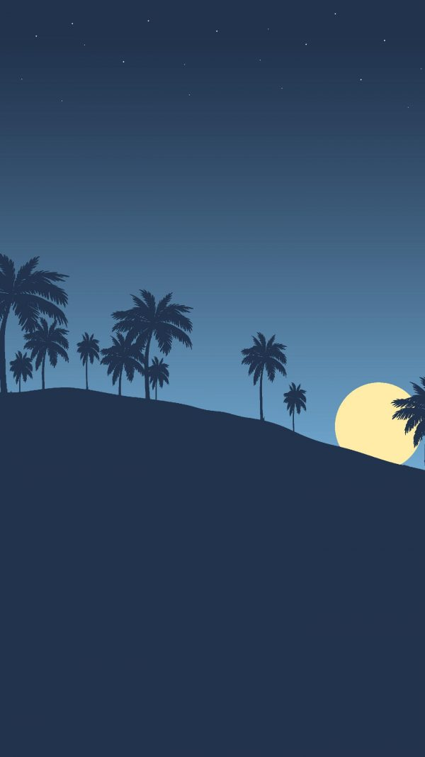 Night Landscape Minimal Background HD Wallpaper 600x1067 - Night Landscape Minimal Background HD Wallpaper