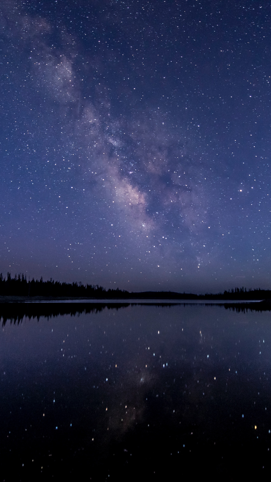 Night Sky Stars Starry Sky Wallpaper 1080x1920