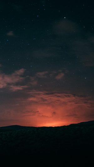 Night Starry Sky Horizon Wallpaper 1080x1920 300x533 - Nature Wallpapers
