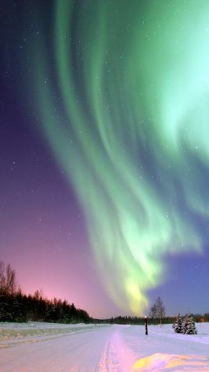 Northern Lights Aurora Winter Wallpaper 1080x1920 300x533 - Nature Wallpapers