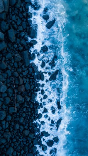 Ocean Surf Rocks Wallpaper 1080x1920 300x533 - Nature Wallpapers