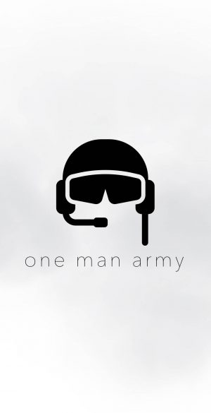 One man army white Wallpaper 1019x2208 300x585 - White iPhone Wallpapers