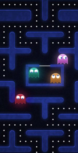 Pacman Background Wallpaper 886x1920  300x585 - Blue Wallpapers