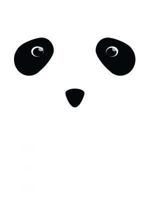 Panda Minimal Background HD Wallpaper 300x400 - Paint Minimal Background HD Wallpaper