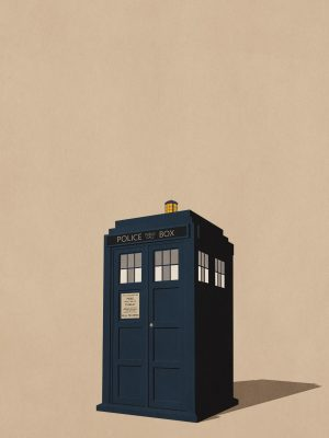 Phone Booth Minimal Background HD Wallpaper 300x400 - Minimalist Wallpapers
